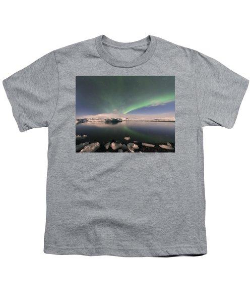 Aurora Borealis And Reflection Youth T-Shirt