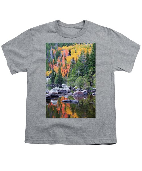 Youth T-Shirt featuring the photograph Autumn At Bear Lake by David Chandler