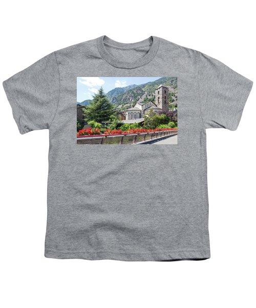 Beautiful View Of Andorra La Vella Youth T-Shirt by GoodMood Art