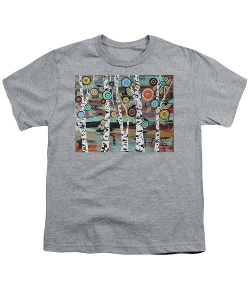 Birch Woods Youth T-Shirt by Karla Gerard
