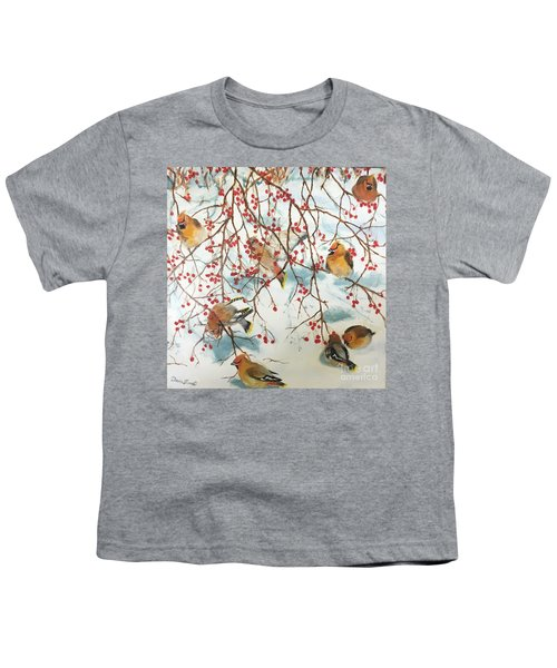 Birds And Berries Youth T-Shirt