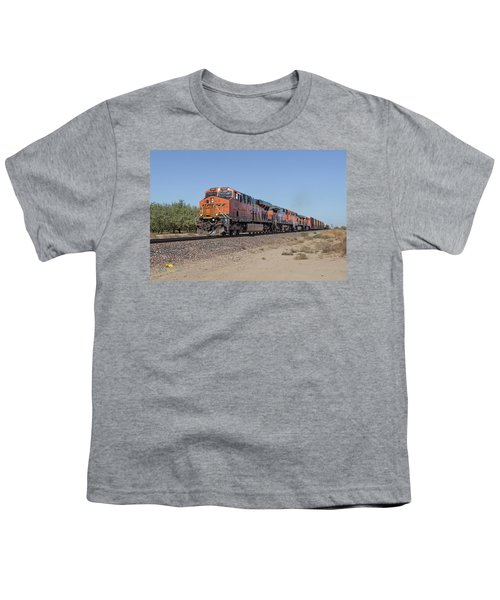 Youth T-Shirt featuring the photograph Bnsf7890 by Jim Thompson