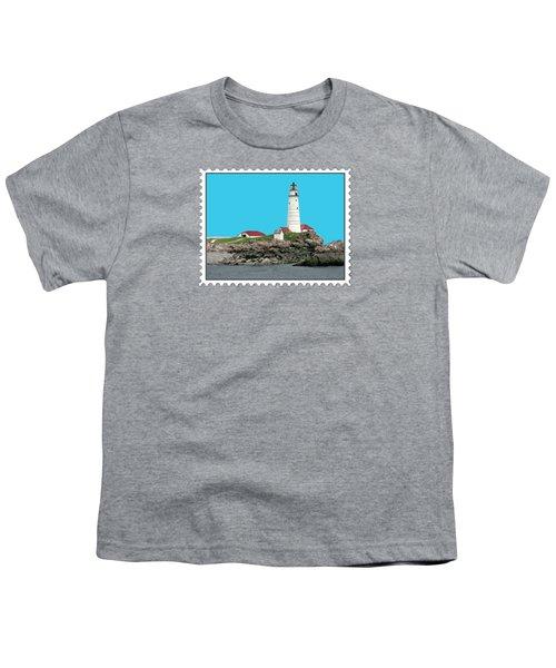 Boston Harbor Lighthouse Youth T-Shirt