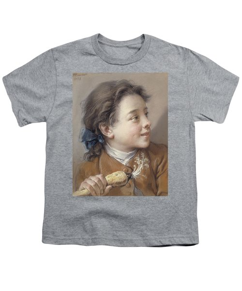 Boy With A Carrot, 1738 Youth T-Shirt by Francois Boucher