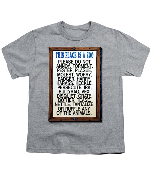 Zoo Sign - Bullyrag? Youth T-Shirt