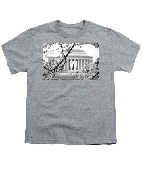 Cherry Tree And Jefferson Memorial Elegance  Youth T-Shirt