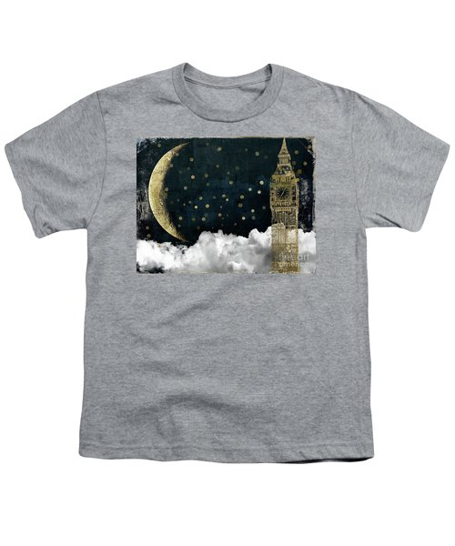 Cloud Cities London Youth T-Shirt by Mindy Sommers