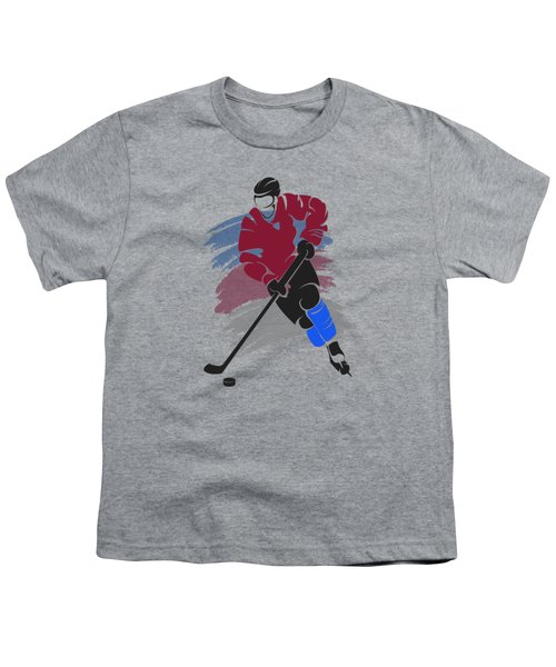Colorado Avalanche Player Shirt Youth T-Shirt by Joe Hamilton