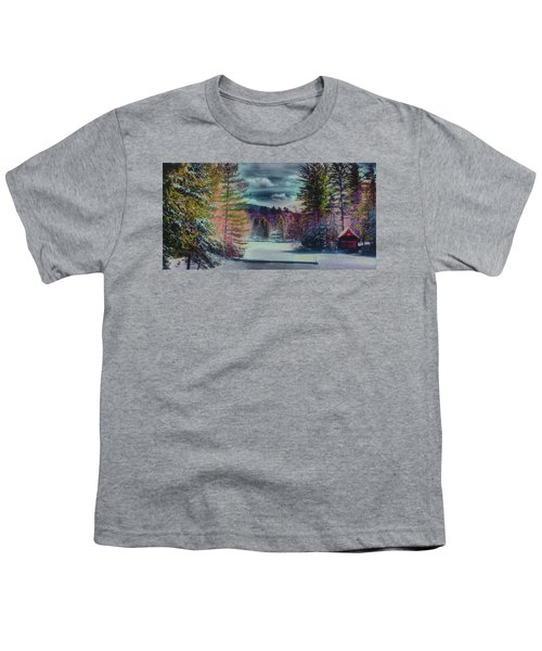 Youth T-Shirt featuring the photograph Colorful Winter Wonderland by David Patterson