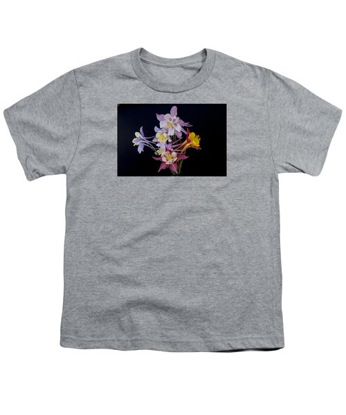 Youth T-Shirt featuring the photograph Columbine Medley by Gary Lengyel