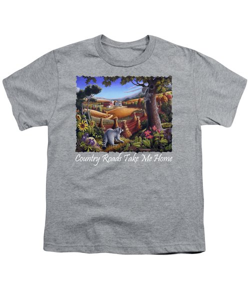 Country Roads Take Me Home T Shirt - Coon Gap Holler - Appalachian Country Landscape 2 Youth T-Shirt by Walt Curlee