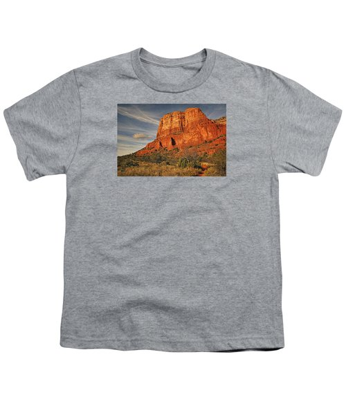 Courthouse Butte Txt Youth T-Shirt