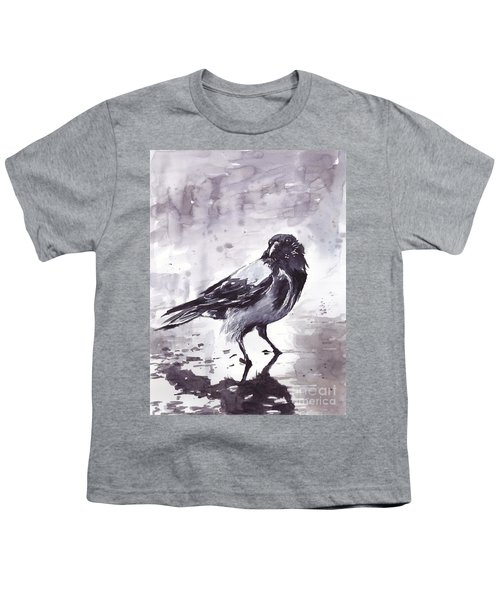 Crow Watercolor Youth T-Shirt