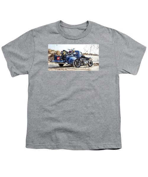 Desert Racing Youth T-Shirt by Mark Rogan