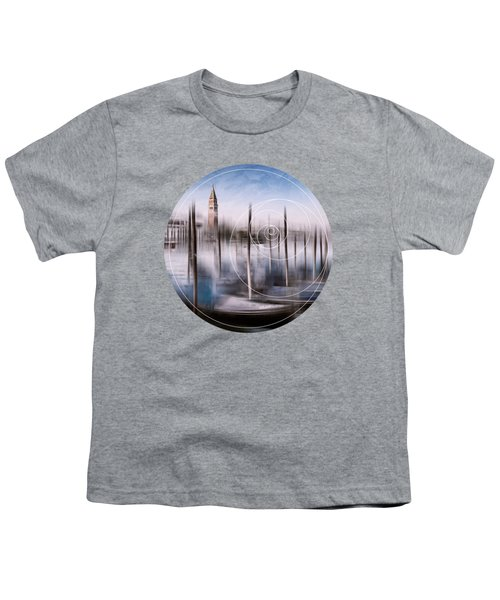 Digital-art Venice Grand Canal And St Mark's Campanile Youth T-Shirt by Melanie Viola