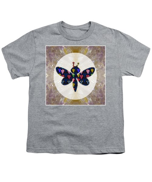Dragon Fly Cute Painted Face Cartons All Over Donwload Option Link Below Personl N Commercial Uses Youth T-Shirt by Navin Joshi