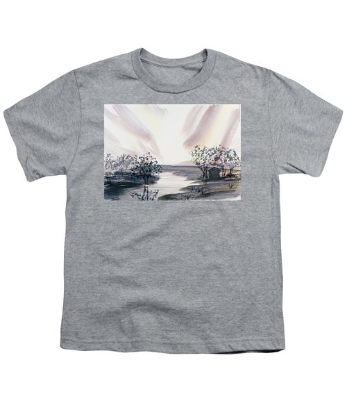 Dusk Creeping Up The River Youth T-Shirt