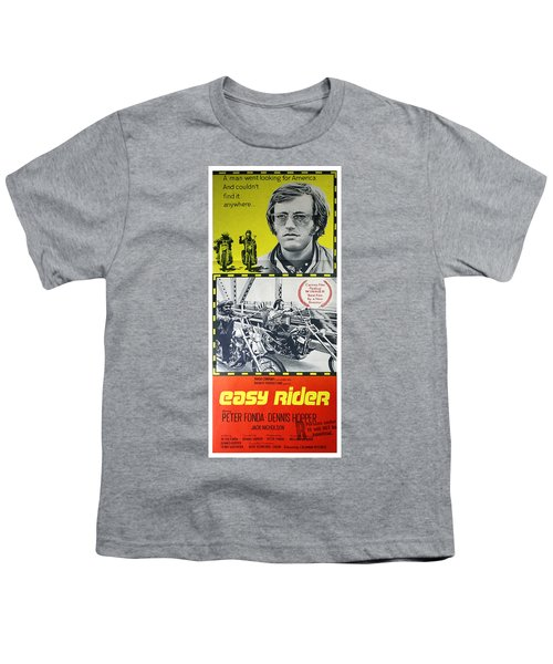 Easy Rider Movie Lobby Poster  1969 Youth T-Shirt by Daniel Hagerman
