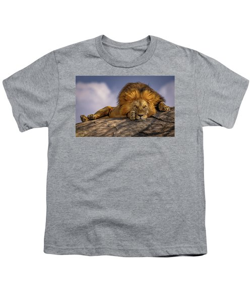 Eye Contact On The Serengeti Youth T-Shirt