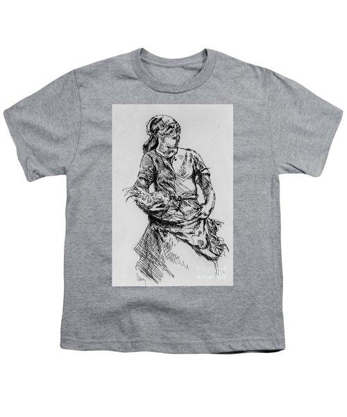 Farm Girl Youth T-Shirt by Rod Ismay