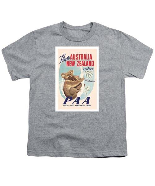 Fly To Australia, New Zealand By Clipper Koala Bears Youth T-Shirt