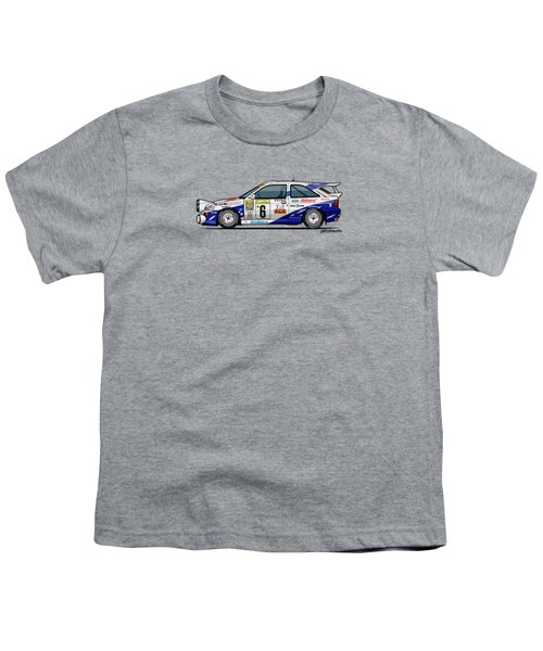 Ford Escort Mk5 Rs Cosworth Group A Rally Monte Carlo 1994 Youth T-Shirt