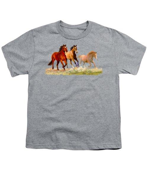Galloping Horses Youth T-Shirt