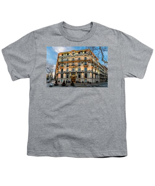 Gran Hotel Havana Youth T-Shirt by Randy Scherkenbach