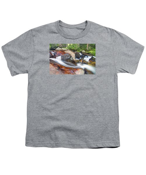 Youth T-Shirt featuring the photograph Granite Falls by Gary Lengyel