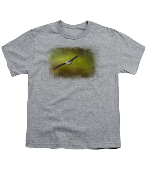 Great Blue Heron In The Grove Youth T-Shirt by Jai Johnson