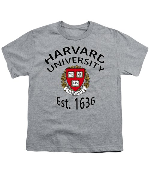 Harvard University Est 1636 Youth T-Shirt by Movie Poster Prints
