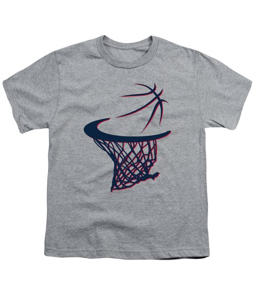 Hawks Basketball Hoop Youth T-Shirt by Joe Hamilton