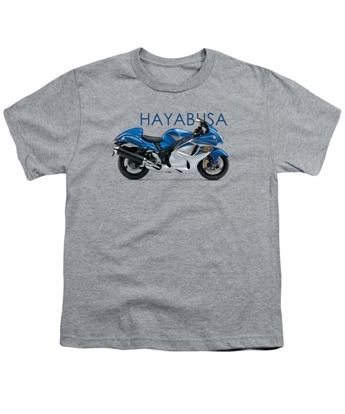 Hayabusa In Blue Youth T-Shirt by Mark Rogan