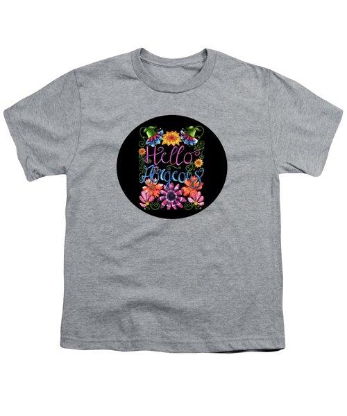 Hello Gorgeous Black  Youth T-Shirt