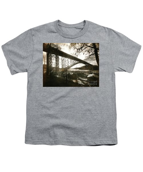 Henry Hudson Bridge, 1936 Youth T-Shirt by Cole Thompson
