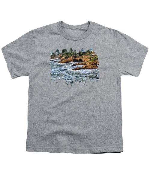 High Tide At Arch Rock Youth T-Shirt