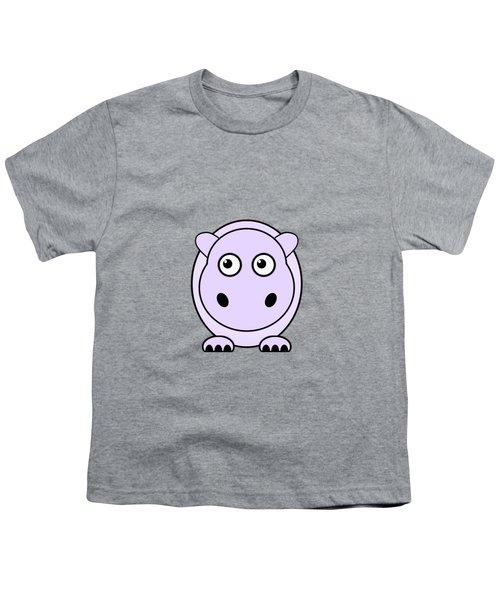 Hippo - Animals - Art For Kids Youth T-Shirt by Anastasiya Malakhova