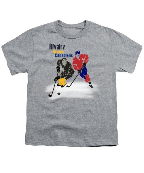 Hockey Rivalry Bruins Canadiens Shirt Youth T-Shirt by Joe Hamilton