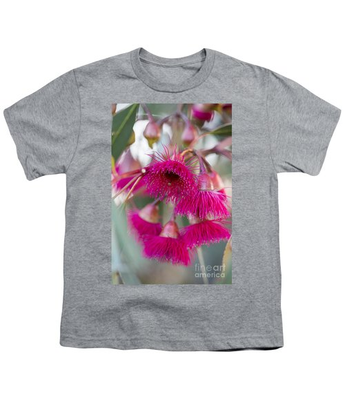Youth T-Shirt featuring the photograph Hot Pink by Linda Lees
