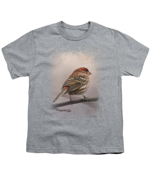House Finch In January Youth T-Shirt by Jai Johnson