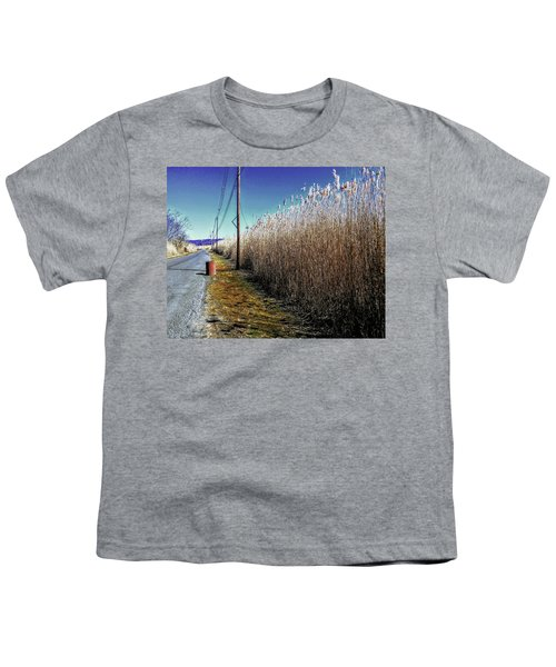 Hudson River Winter Walk Youth T-Shirt
