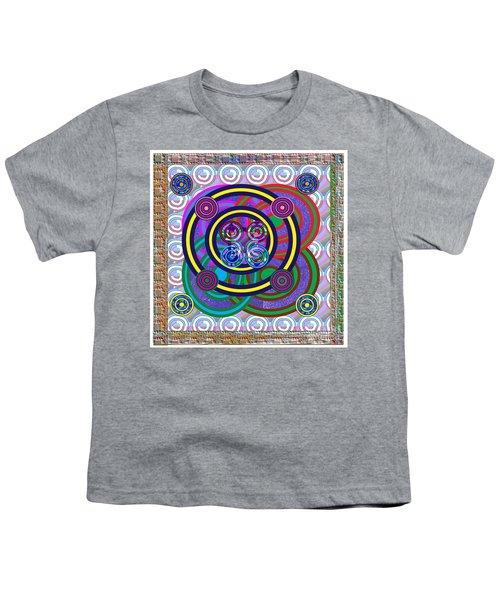 Hula Hoop Circles Tubes Girls Games Abstract Colorful Wallart Interior Decorations Artwork By Navinj Youth T-Shirt