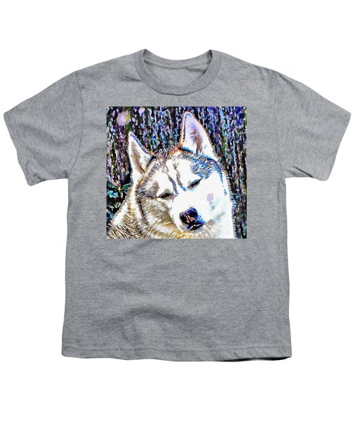 Husky Portrait Youth T-Shirt