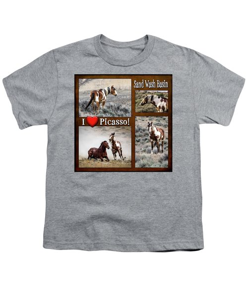 I Love Picasso Collage Youth T-Shirt