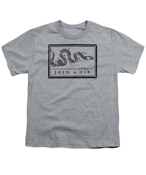 Join Or Die Youth T-Shirt by War Is Hell Store