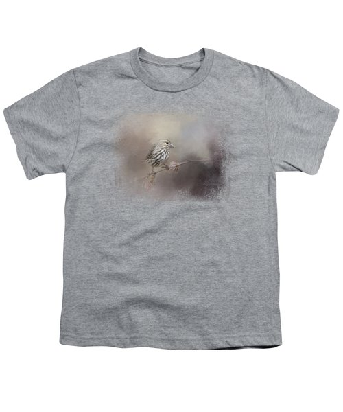 Just A Whisper Of Feathers Youth T-Shirt by Jai Johnson