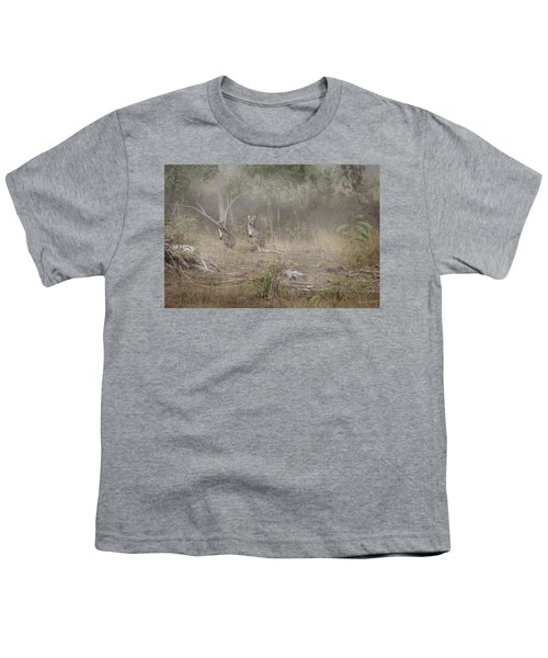 Kangaroos In The Mist Youth T-Shirt by Az Jackson