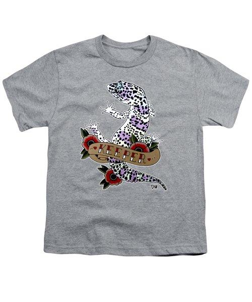 Keeper Leopard Gecko Youth T-Shirt by Donovan Winterberg