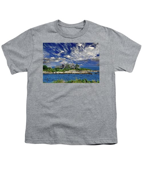 Kennebunkport, Maine - Walker's Point Youth T-Shirt by Russ Harris