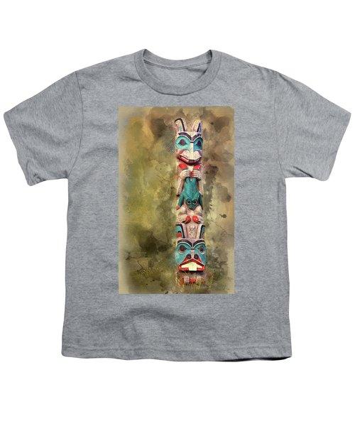Ketchikan Alaska Totem Pole Youth T-Shirt